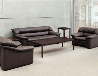 【送料無料】 応接セット 4点 革張り ソファー 椅子 テーブル オフィス 椅子セット 高級 人気 RE-3073S2 [法人専用商品]