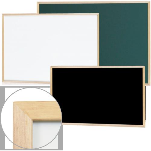 木製フレームをつかった優しい雰囲気でオフィスや施設だけでなく店舗などにも最適な壁掛けの無地ボード
