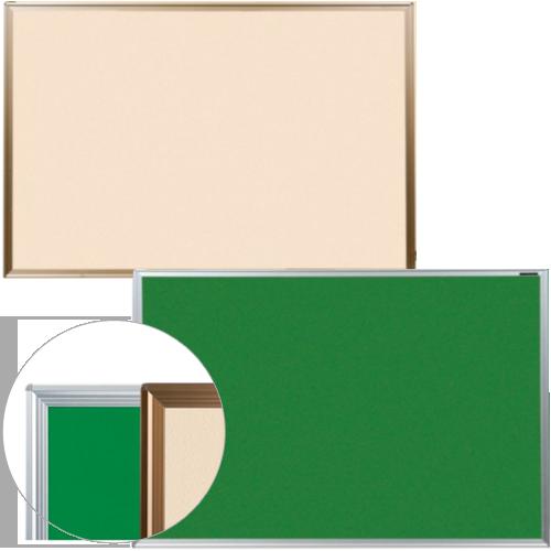 ピンやマグネットに加えマジックテープまで使えるオフィス家具通販のルキットでも高機能な掲示板
