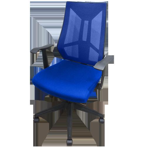 背面と座面のカラーを好みに選べるオフィスチェアのイメージ