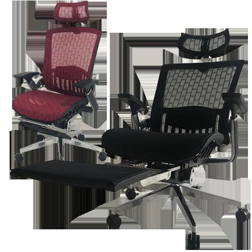 人間工学に基づいてデザインされたオフィス家具通販のルキットオリジナル商品の中でも最高機能オフィスチェア
