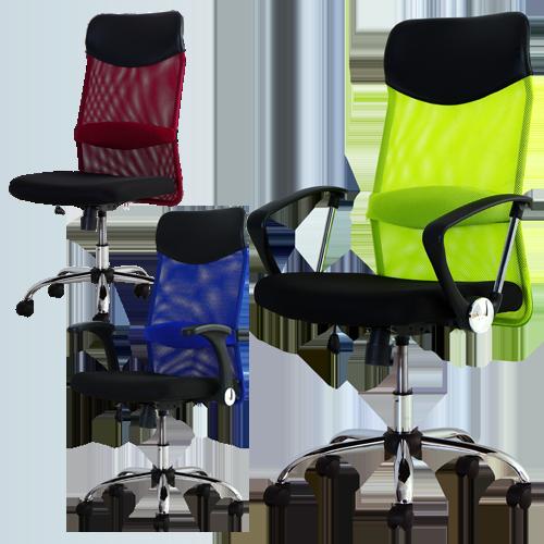 爽快メッシュとS字構造で高級感あふれる事務椅子