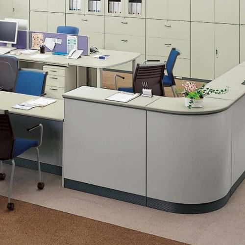 オフィスや窓口で活躍する配線収納などの高機能オフィスカウンター