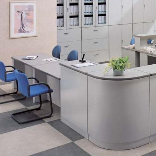 ロータイプやハイタイプの対応可能なレイアウト自由自在オフィスカウンター