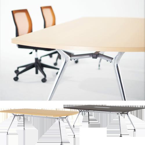 高級志向のミーティングテーブルはフリーアドレスデスクとしても