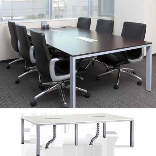 ミーティングテーブルとしてもフリーアドレスデスクとしても利用される万能ワークデスク