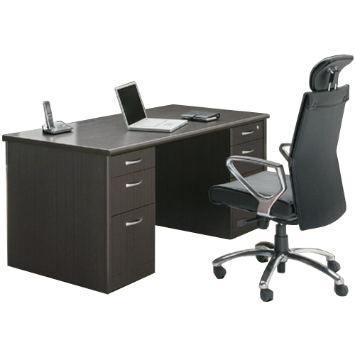 オフィス家具通販のルキット人気の役員用エグゼクティブデスクとオフィスチェアをレイアウトしたイメージ