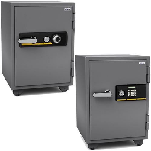 A4サイズも収納可能な金庫メーカーのEIKO製ダイヤル錠とテンキー式の耐火金庫