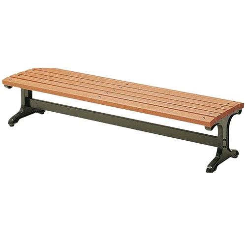 テラスや休憩所、リフレッシュスペースに最適でおしゃれな背もたれなしのウッドベンチ