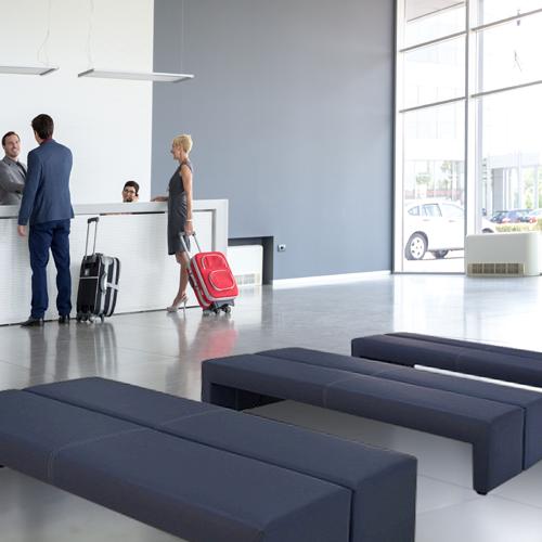 オフィス家具通販のルキットオリジナルのおしゃれな待合室やロビーで大人気の長椅子