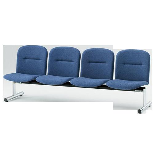 エントランスやロビーにおすすめな4人掛け用背付き長椅子のイメージ
