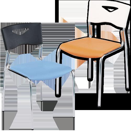 オフィス家具通販のルキットで会議やセミナーでの利用におすすめのカラーがおしゃれなスタッキング可能ミーティングチェア