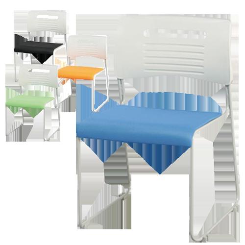 カラーがおしゃれでスタッキング可能かつ持ち運びやすい激安会議用椅子