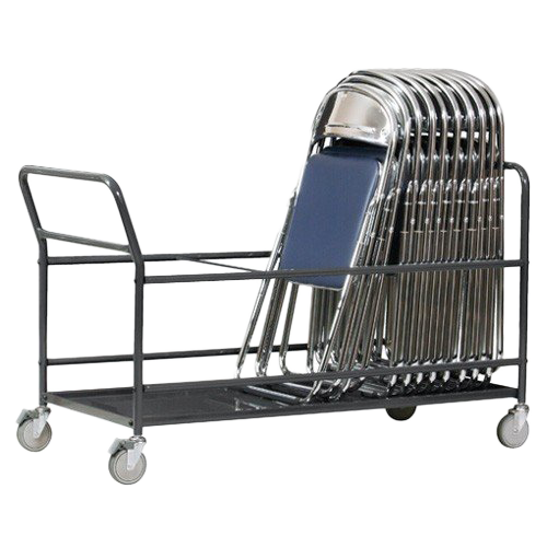 イベントなどがない時に収納しておけるパイプ椅子用台車の使用イメージ