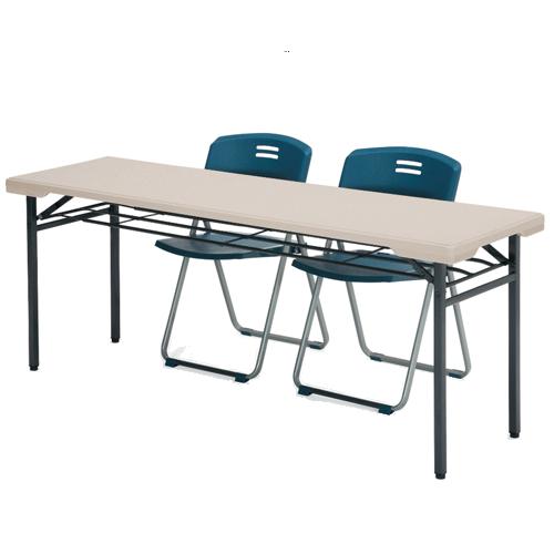 水に強い天板を採用し屋外などの使用にも最適な会議やイベントで利用される折りたたみ会議テーブル