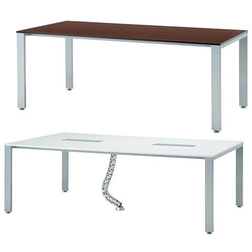 配線ボックスやダクトなどの高機能付でおしゃれな会議テーブル