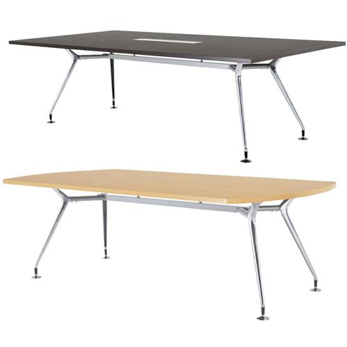 天板の形も様々でどんなオフィスにもレイアウトしやすいおしゃれな会議室に最適なミーティングテーブル