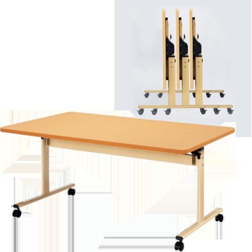 ナチュラルカラーでおしゃれな打ち合わせスペースやセミナーなどに最適なフォールディングテーブル