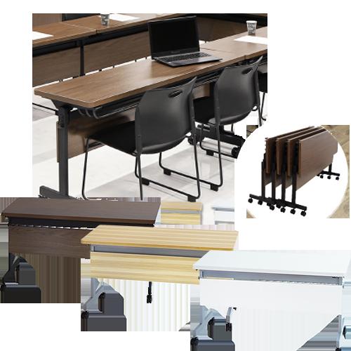 会議室はもちろんフリーアドレスデスクとしても使えるオフィス家具通販のルキットで1番人気の会議用テーブル
