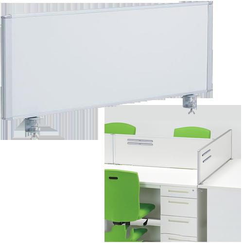 オフィス家具通販のルキット1番人気の卓上に設置するデスクパーテーション