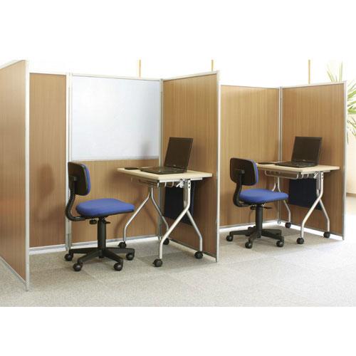 オフィス家具通販のルキット1番人気のスチール製で激安のパーテーションシリーズを個別学習塾でレイアウトしたイメージ