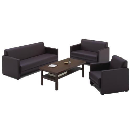 応接ソファ3台と応接テーブル1台の4人用応接セット