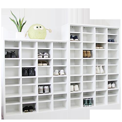 オフィス家具通販のルキットオリジナルFACILEシューズロッカーの使用イメージ