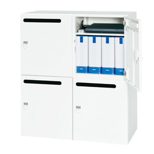2列2段のホワイトメールボックス