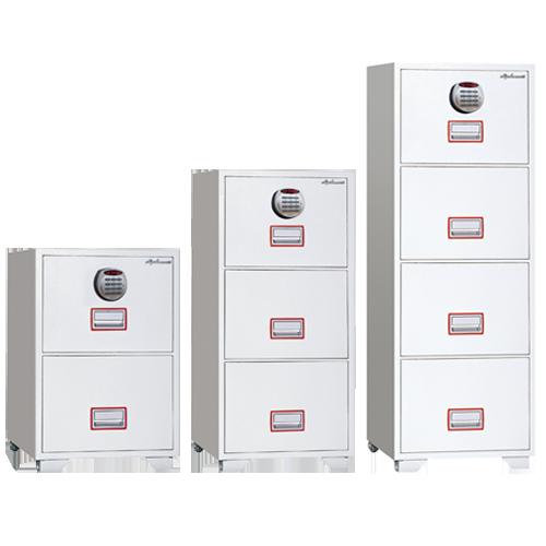 耐火性能付きで会社の書類などを収納に最適なファイリングキャビネット