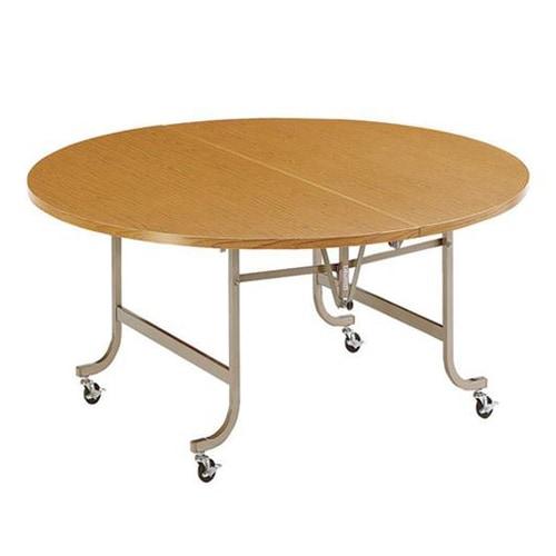 丸形で宴会場などでも使われる激安フライトテーブル
