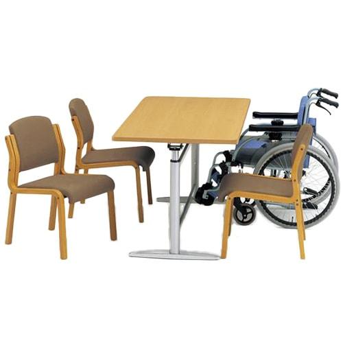 昇降機能など高機能の介護や福祉の施設で人気のテーブル