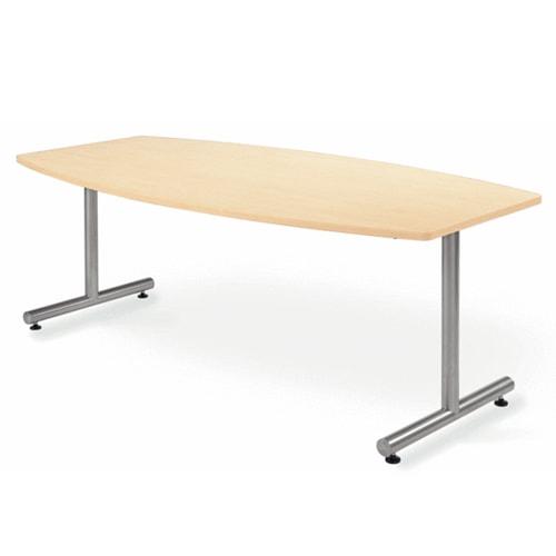 ボート型がおしゃれな高級感のある会議用テーブル