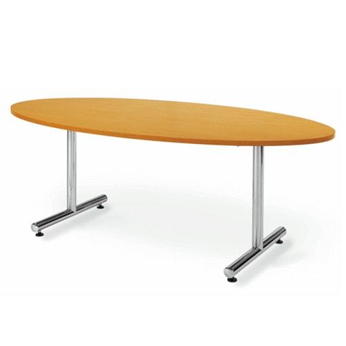 楕円型のため様々なオフィスのレイアウトに合わせることができる会議用ミーティングテーブル