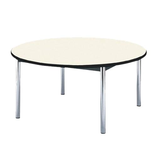 丸形のためオフィスの会議室だけじゃなく学校や公共施設などでも最適な激安ミーティングテーブル