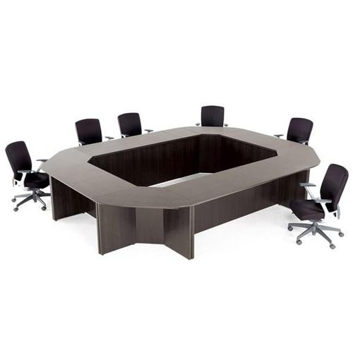 会議室や打ち合わせスペースのサイズやレイアウトに合わせて組み合わせられるミーティングテーブル