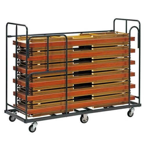 折りたたみ会議テーブルを折り畳んで収納する際に使用する折り畳み会議テーブル用台車