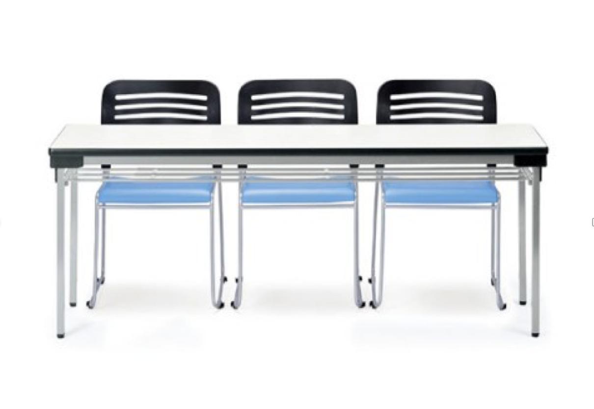 公共施設やイベント時の会議用テーブルとミーティングチェアのレイアウトイメージ