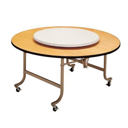 円形のテーブルに載せて中華料理店などで多く使われるターンテーブル