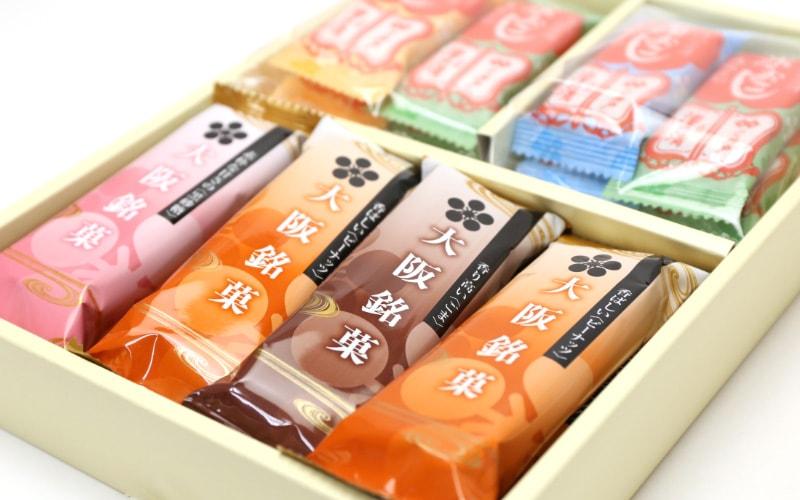大阪銘菓にふさわしいパッケージ写真