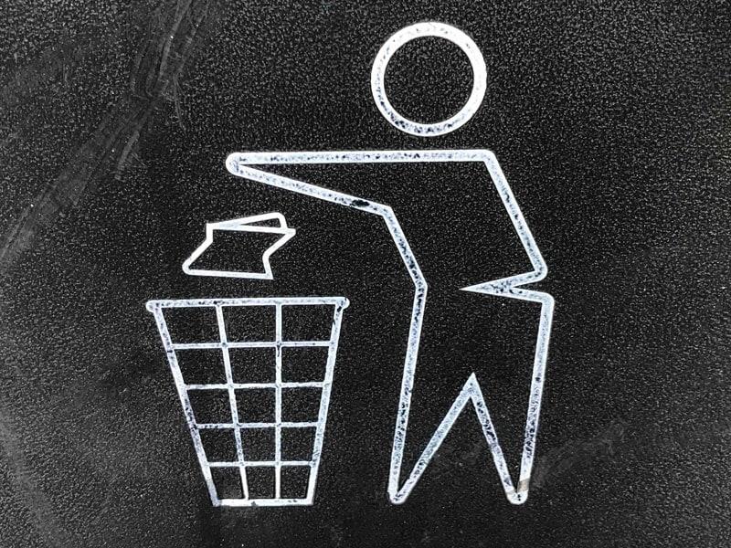 ゴミを捨てるアイコン