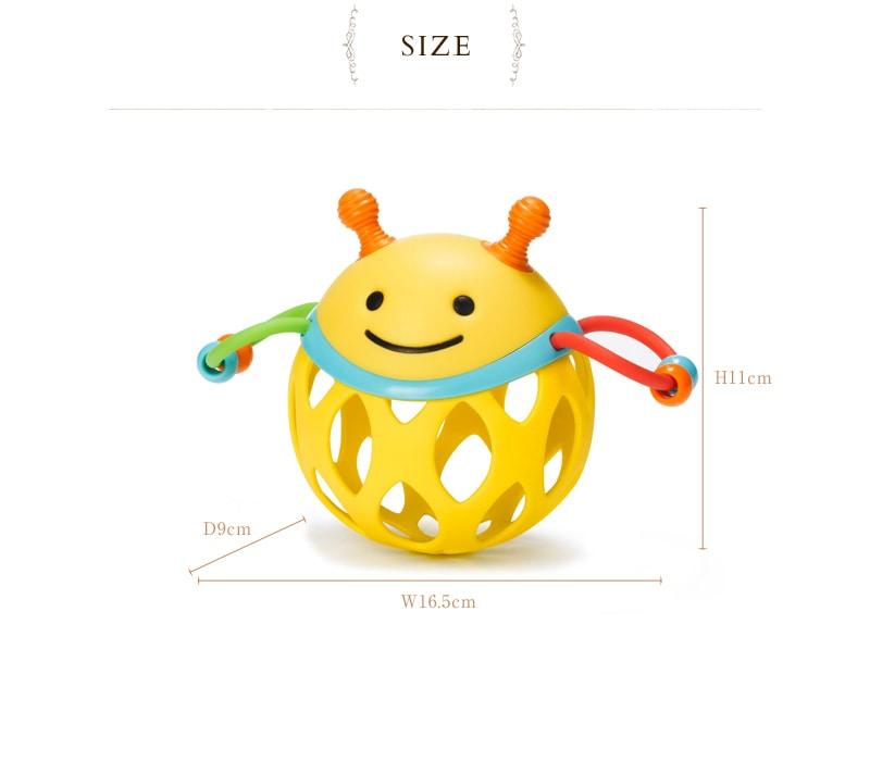 SKIP HOP(スキップホップ) ロールアンド ラトル TYSH303102 /ガラガラ/握りやすい/歯固め/おもちゃ/ティーザー/オーボール/ふくろう/はち/はりねずみ/