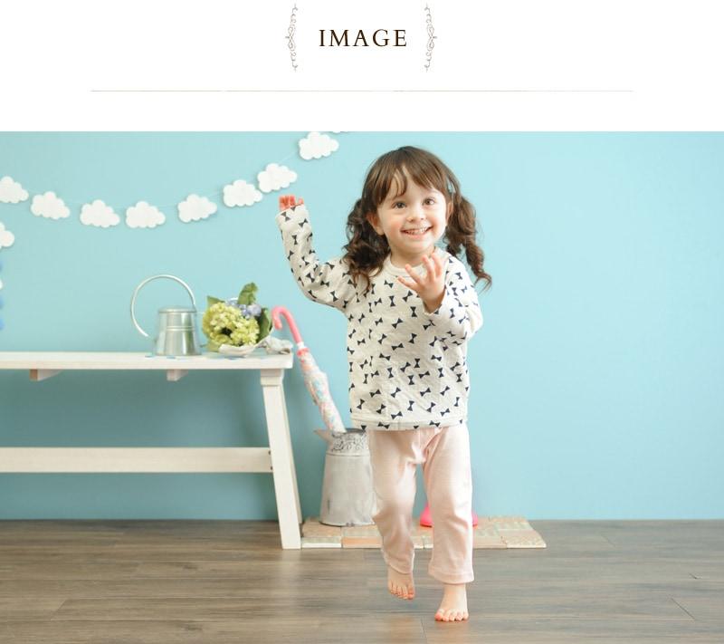 【お着換え楽らくベビー服】 フライスTシャツ(柄タイプ) 175002  保育園 ベビー カットソー デイリーユース 名前タグ 女の子 トップス シャツ 男の子