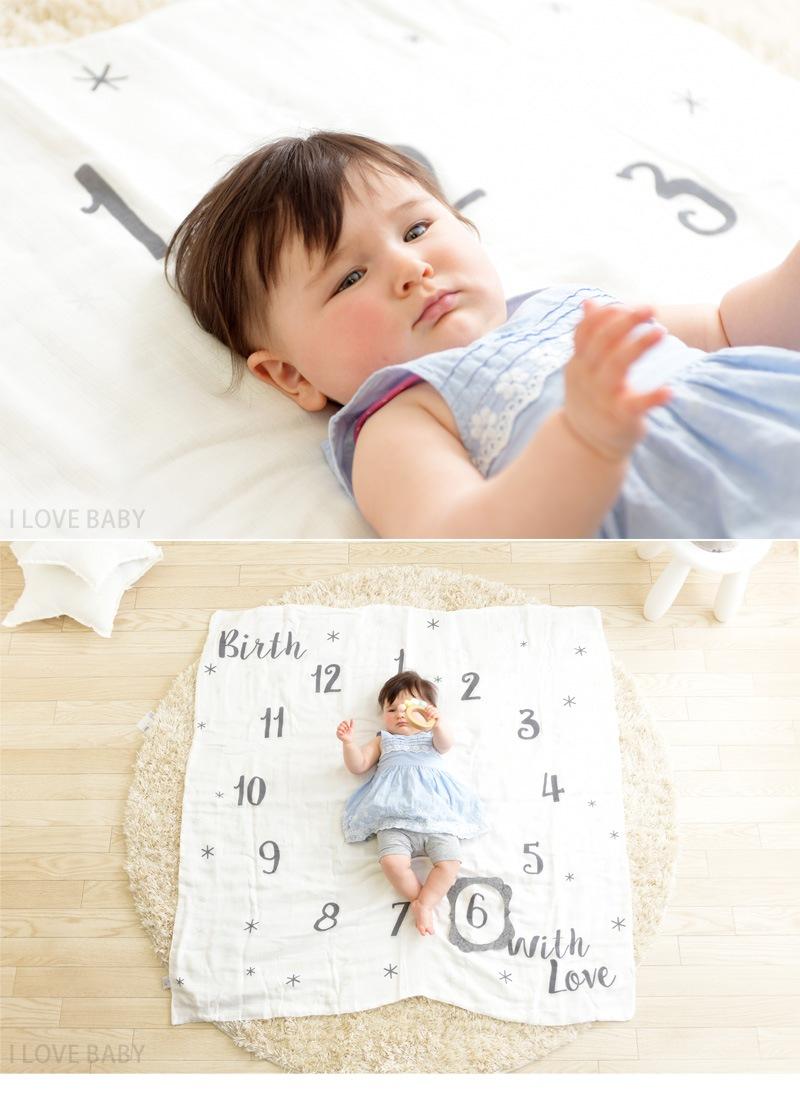 Kiss Baby アニバーサリータオル 赤ちゃんの成長記録マット  88-863