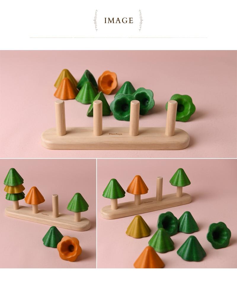 PLAN TOYS プラントイ ソート&カウント ツリー 5403  木のおもちゃ おしゃれ 積み木 ツリー 知育玩具 1歳半 2歳 木製おもちゃ かわいい ギフト ギフト プレゼント