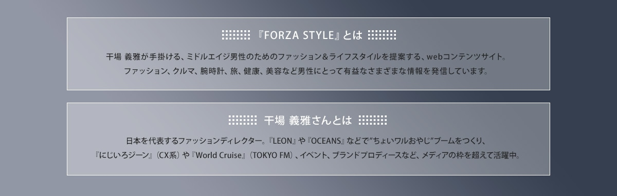 『FORZA STYLE』とは