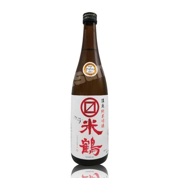山形県 米鶴酒造 マルマス米鶴 限定純米吟醸 赤ラベル 720ml