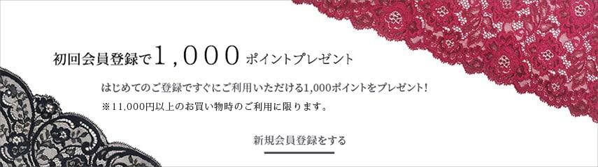 初回登録1,000ポイント=1,000円割引!