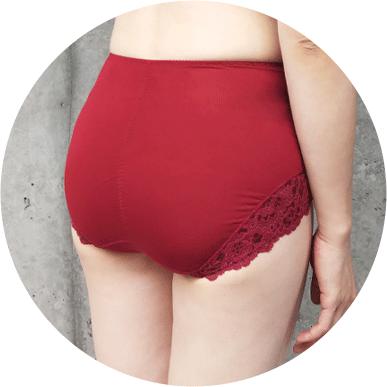 下半身を包み込む設計でお尻や太ももをカバー。下垂させずヒップアップ効果