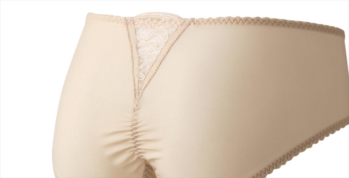 透け感が美しく優しい履き心地の補正下着ブルームのショーツ