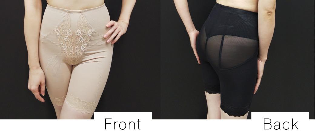 お尻と下腹部をシェイプアップして下半身のシルエットを補正するブルームのガードル